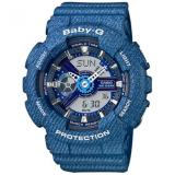 How To Get Casio Baby G Ba 110Dc 2A2 Denim Design Analog Digital Ladies Watch