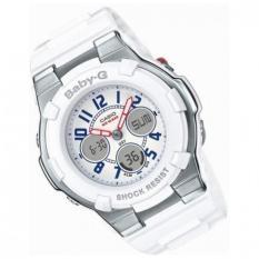 Sales Price Casio Baby G Bga 110Tr 7B White Resin Analog Digital Marine Tricolor Lady Watch