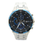 Discount Casio Edifice Efr 539D 1A2 Men Blue Ion Plated Bezel Stainless Steel Watch