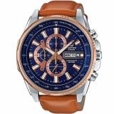 Cheapest Casio Edifice Efr 549L 2A Rose Gold Ion Plated Bezel Leather Analog Watch Online