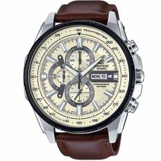 Purchase Casio Edifice Efr 549L 7B Black Ion Plated Bezel Leather Analog Watch