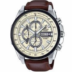 Buy Casio Edifice Efr 549L 7B Black Ion Plated Bezel Leather Analog Watch Casio