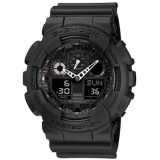 Casio G Shock Ana Digi Magnetic Mens Black Resin Strap Watch Ga 100 1A1 Free Shipping