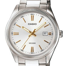 Casio Ltp-1302d-7a2 Ladies White Dial Analog Stainless Steel Dress Watch By Timeyourtime.