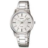 Buy Casio Ltp 1303D 7A Analog Silver Dial Stainless Steel Ladies Watch Casio Online