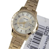 Cheapest Casio Ltp V004G 9B Analog Gold Dial Stainless Steel Ladies Watch Multicolor Online