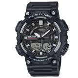Brand New Casio Men S Black Standard Analog Digital Resin Watch Aeq110W 1A
