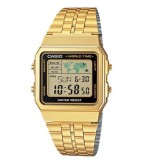 Casio Men S Gold Stainless Steel Strap Watch A500Wga 1D In Stock