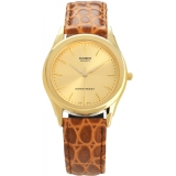 Who Sells Casio Mtp 1093Q 9A Analog Gold Dial Leather Strap Mineral Glass Wr Watch Cheap