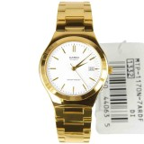 Casio Watch Enticer Gold Stainless Steel Case Stainless Steel Bracelet Mens Nwt Warranty Mtp 1170N 7A Best Buy
