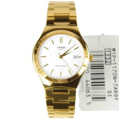 Cheap Casio Watch Enticer Gold Stainless Steel Case Stainless Steel Bracelet Mens Nwt Warranty Mtp 1170N 7A