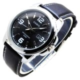 Sale Casio Mtp 1314L 8A Men Classic Analog Black Leather Black Dial Watch On Singapore