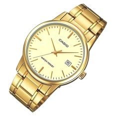 Price Casio Mtp V002G 9A Men Analog Mineral Glass Stainless Steel Gold Dial Watch Casio Original