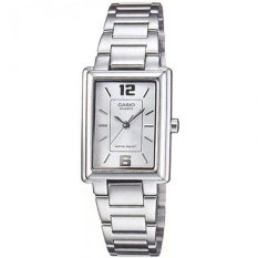 Casio Womens Silver Stainless Steel Strap Watch Ltp-1238d-7a By 65watches.
