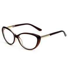 Cat Eye Elegant Optical Frame Women Eyeglasses Vintage Fashion Nerd Style H2004 02 Brown Online