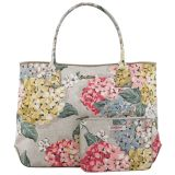 Review Cath Kidston Embossed Handbag Tote With Small Pouch 15Aw Hydrangea Pattern Colour Oat 556248 Cath Kidston On Singapore