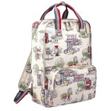 List Price Cath Kidston Matt Oilcloth Backpack Rucksack Billie Goes To Town Fitting 13 Laptop Cream 15Aw Export Cath Kidston