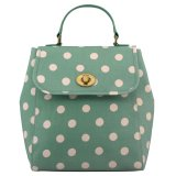 Shop For Cath Kidston Matt Oilcloth Turnlock Backpack Polka Button Spot Green 559157