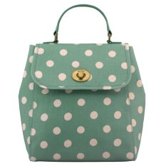 Price Cath Kidston Matt Oilcloth Turnlock Backpack Polka Button Spot Green 559157 Cath Kidston Original