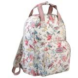 Promo Cath Kidston Multi Pocket Backpack Matt Oilcloth Rucksack Blossom Birds 16Ss Colour Cream Fitting 13 Laptop 557733