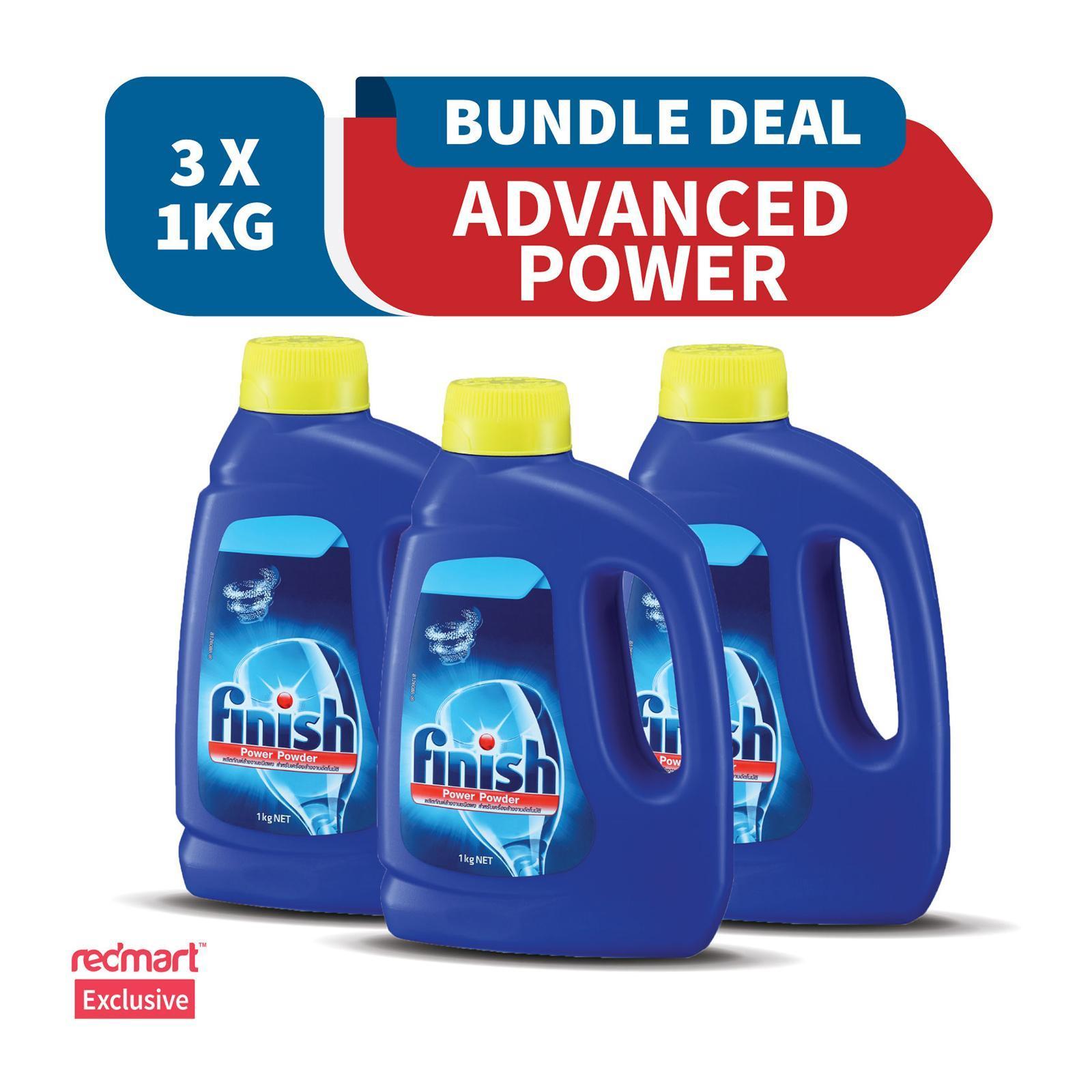 Finish Advanced Power Powder Detergent 1 KG x 3