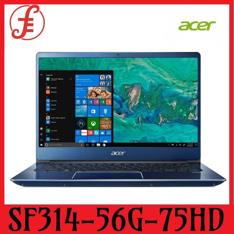 ACER SF314-56G-75HD (BLUE) 14 IN INTEL CORE I7-8565U 12GB 512GB SSD+1TB HDD WIN 10 (sf314-56g-75hd)