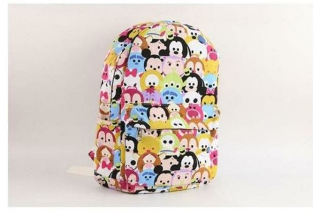 Tsum Tsum Cartoon Disney backpacks kindergarten school kids Size: 27*10*35cm