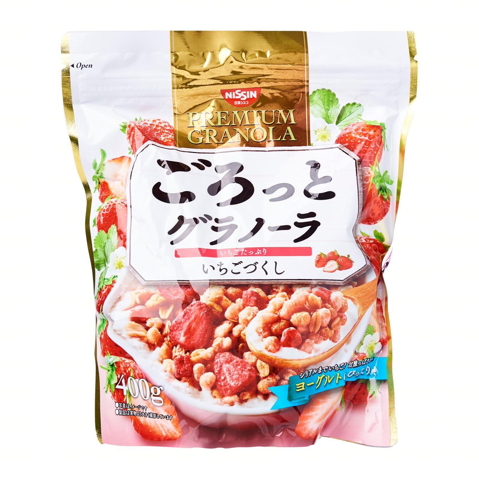 Nissin Gorotto Strawberry Flavour Breakfast Granola