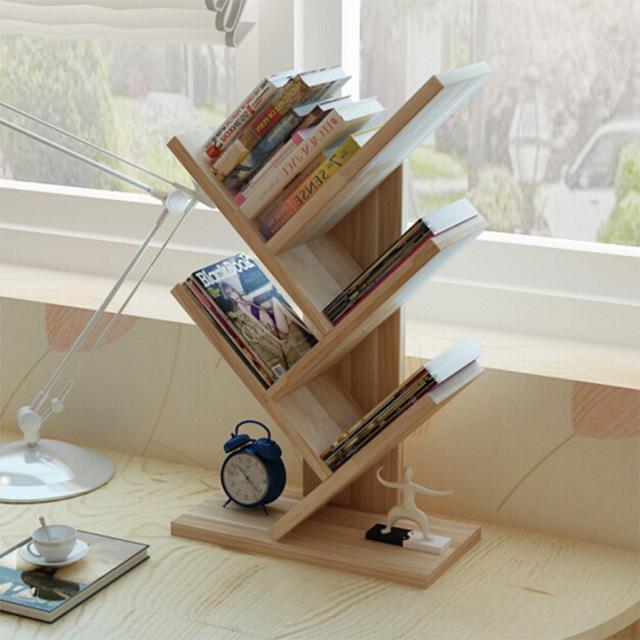 Tree Shape Simple Household Mini Book Shelf Students Office Creative Table Rack