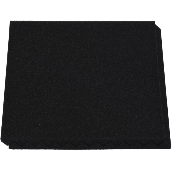 12 Pcs Black Acoustic Panels Soundproofing Foam Acoustic Tiles Studio Foam Sound Wedges 2.5 x 30 x 30cm