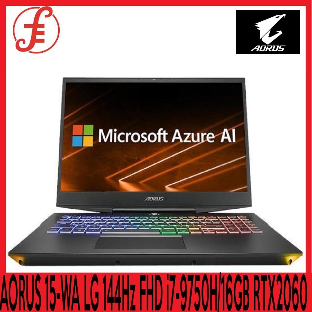 GIGABYTE AORUS 15-WA LG 144Hz FHD (i7-9750H/16GB SAMSUNG DDR4 2666 (8GB*2)/GeForce RTX 2060 GDDR6 6GB/512GB INTEL 760P PCIE SSD + 2TB HDD 7,200RPM/15.6 Thin Bezel LG 144Hz FHD IPS/WINDOWS 10 HOME (AORUS 15-WA)