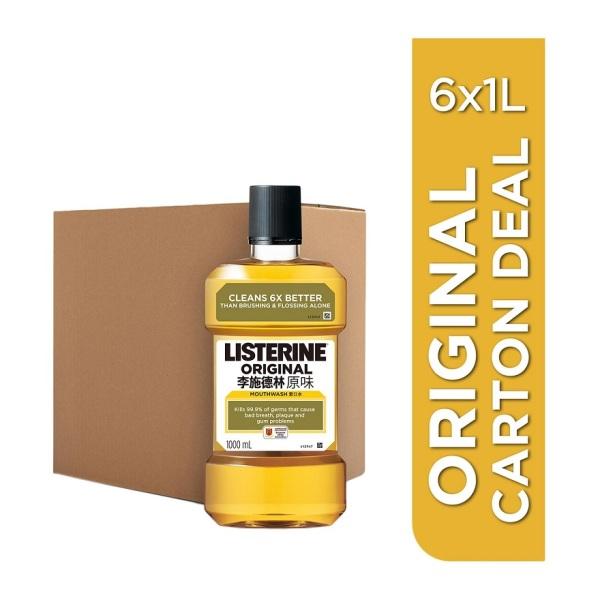 Buy LISTERINE Original 1L Carton Singapore