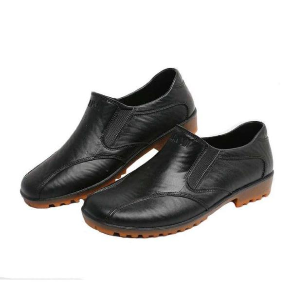 Chef Shoes Anti-slip Oil Resistant Waterproof Only Kitchen Workers Shoes Special Labor Safety Wear-Resistant Rubber Sole Leather Boots Shoes