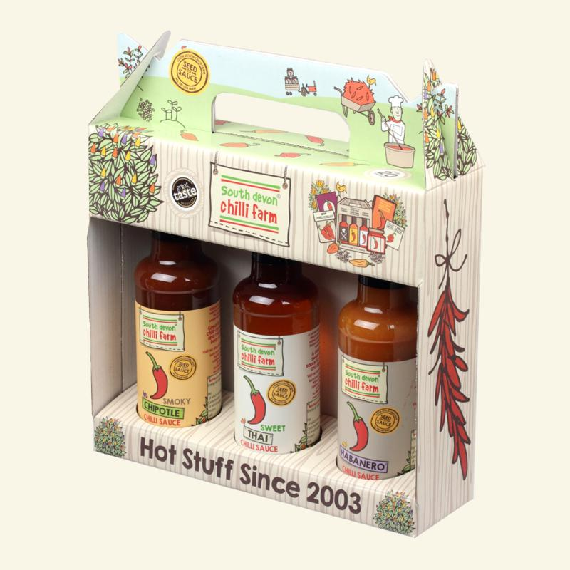 South Devon Chilli Farm - Chilli Sauce Gift Pack 3 X 140ml September 2019 By Chillime.