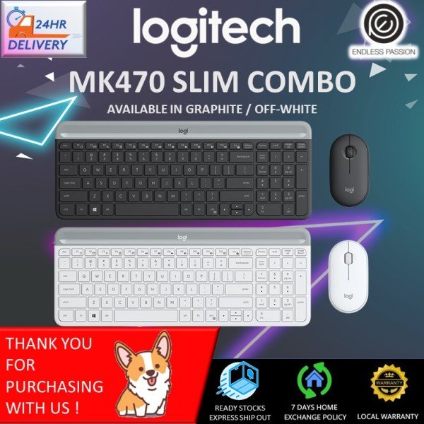 Logitech MK470 Slim, Compact and Quiet Wireless Keyboard and Mouse Combo Singapore