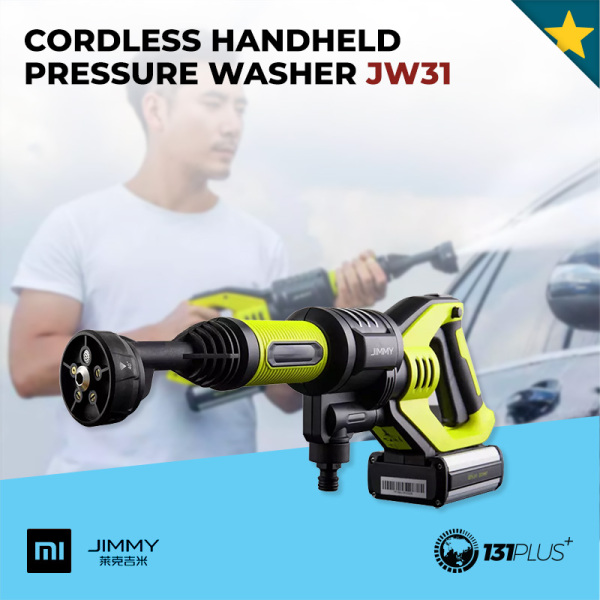 Xiaomi Jimmy Cordless Handheld Pressure Washer JW31 [ 2.2MPa, 180L/h, 5 Modes, 2500mAh*5, 180W, Eco Energy Saving, Portable, Compact Size, Lightweight, Fast Charging, Automotive, Gardening, Cleaning Tool ]