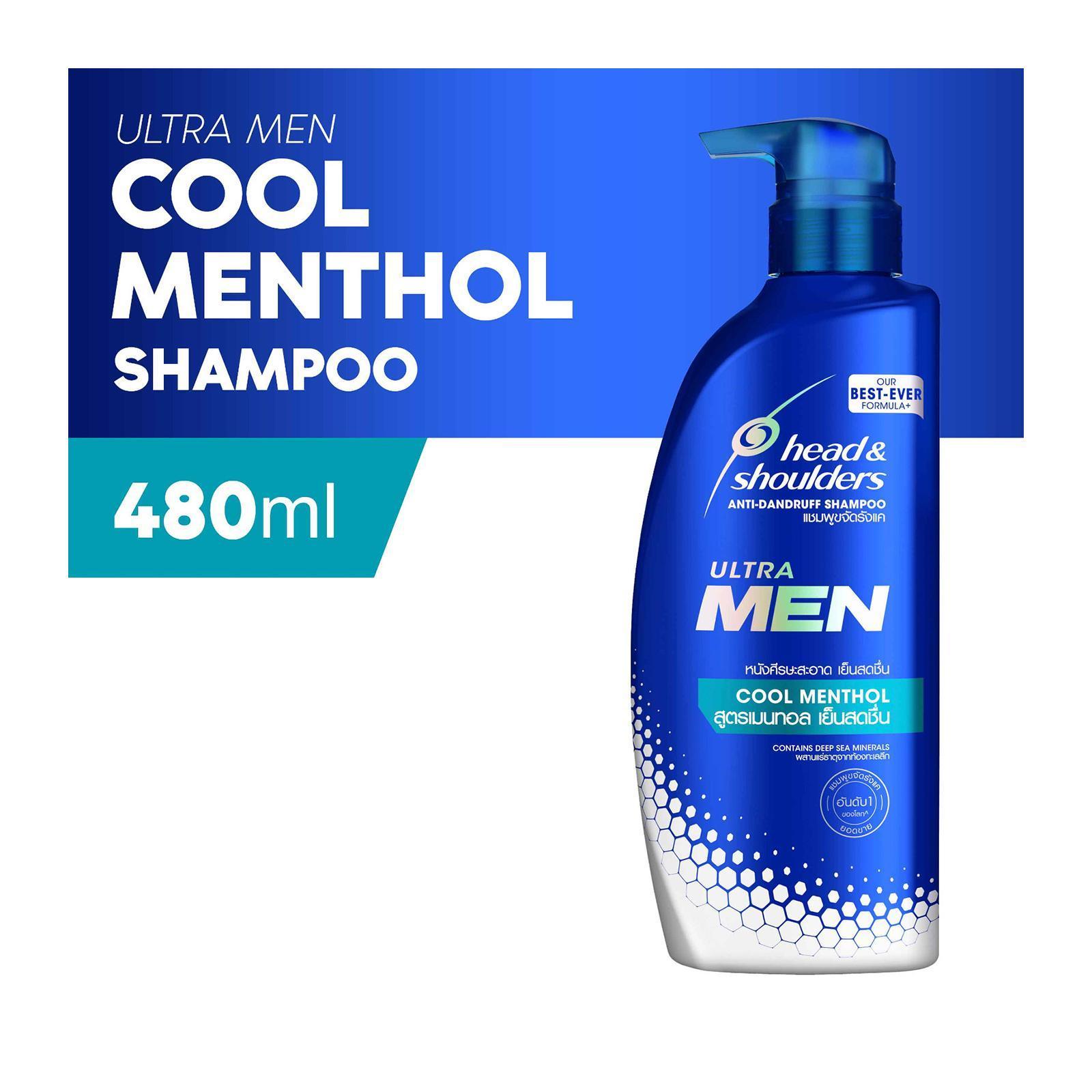 Head And Shoulders Ultra Men Cool Menthol Anti-Dandruff Shampoo 480ml