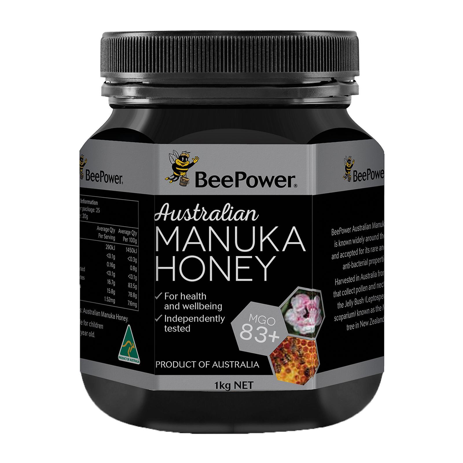 BeePower Australian Manuka Honey MGO 83+ - By Nature's Nutrition