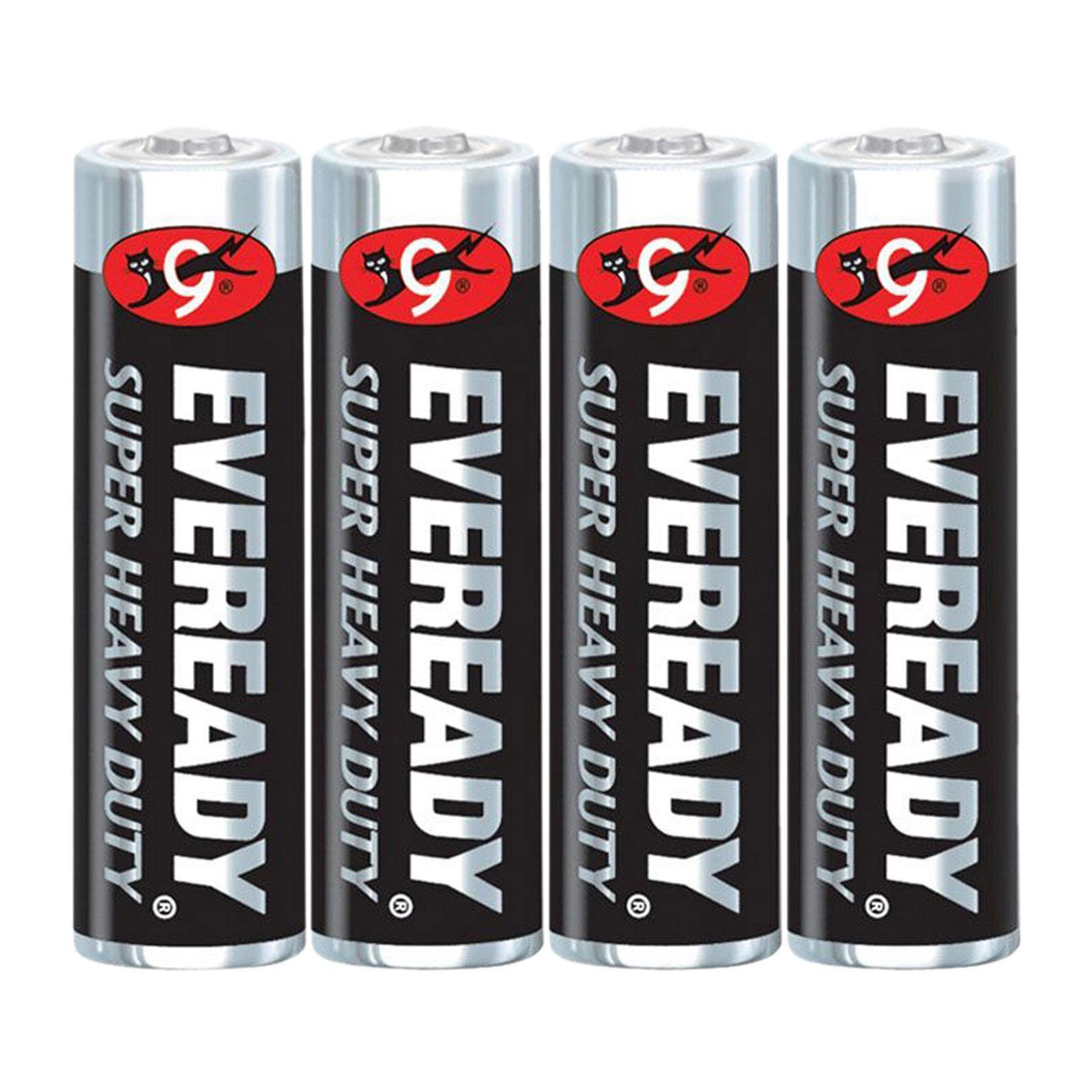 Eveready M1212 Sw4 Carbon Zinc Battery Super Heavy Duty Size:Aaa (4Pcs/Pack)