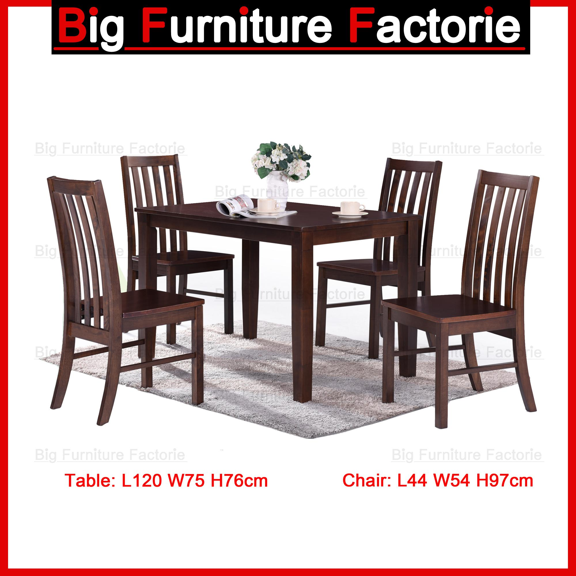 Solid Wooden Dining Set / Table and Chairs