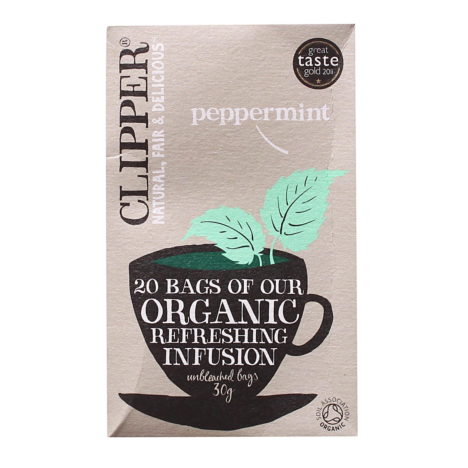 Clipper Organic Infusion Peppermint Tea By Redmart.