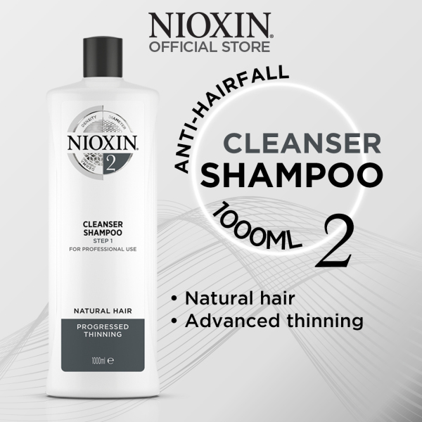 Buy NIOXIN System 2 Anti-Hair Loss Cleanser Shampoo for Natural Hair with Advanced Thinning 1L [STEP 1] Singapore