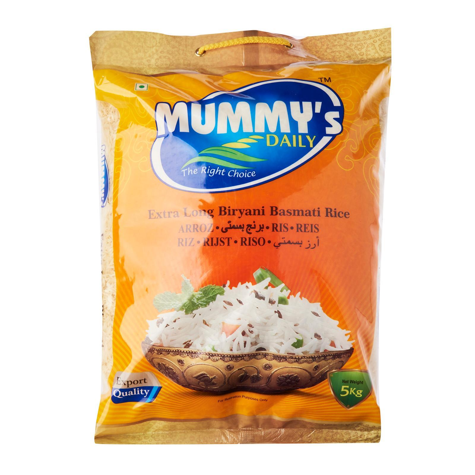 Mummys Daily Basmati Rice 5kg , Long-Grain Rice, Good For Diabetes, Healthy, Pure, Handpicked By Merlion Mart.