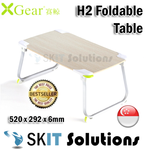 ★XGear H2 Foldable Portable Laptop Desk Study Table Bed Stand★520mm x 292mm x 6mm