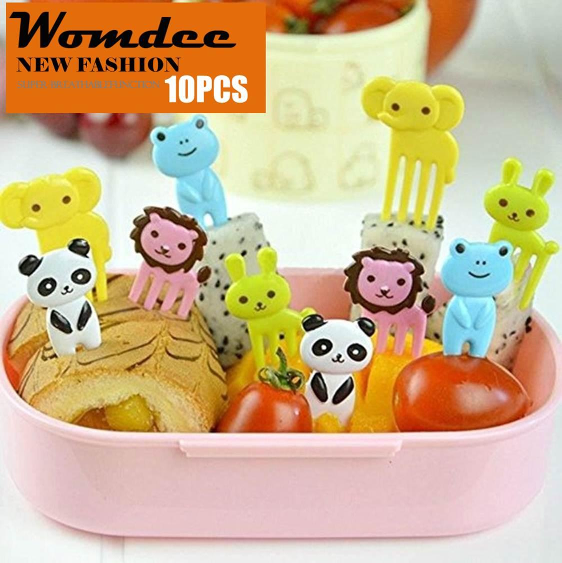 Womdee Animals Food Picks And Forks Lovely Fruit Picks Forks Bento Decoration Box Lunch Box Party Accessories, Random Color - Intl By Womdee.