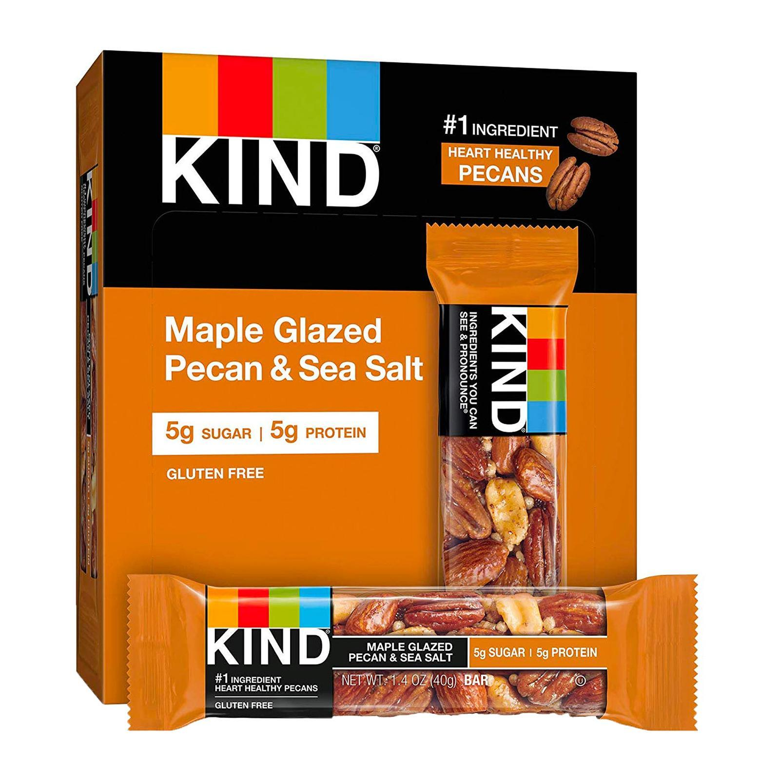 KIND Fruit And Nut Maple Glazed Pecan And Sea Salt Bar - By Wholesome Harvest