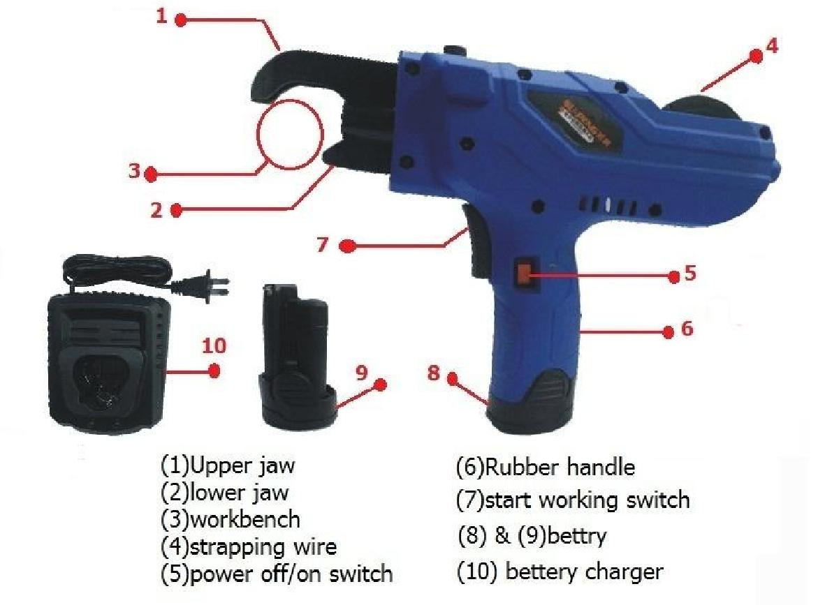 Battery Operate Wire Binder Gun