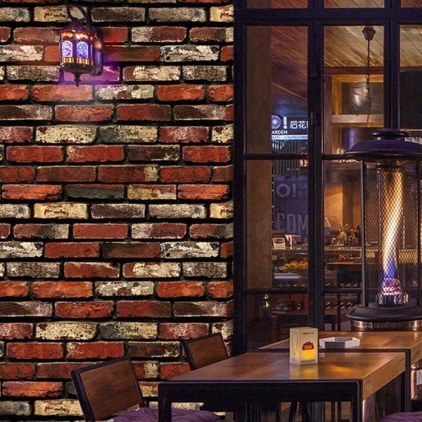 Magic Fix 60*3M Brick Wallpaper - 3D Self Adhesive Wallpaper Faux Textured Brick Look – Removable Wall Paper