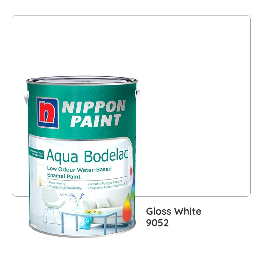Nippon Paint Aqua-Bodelac 9052 (Gloss White) 5L