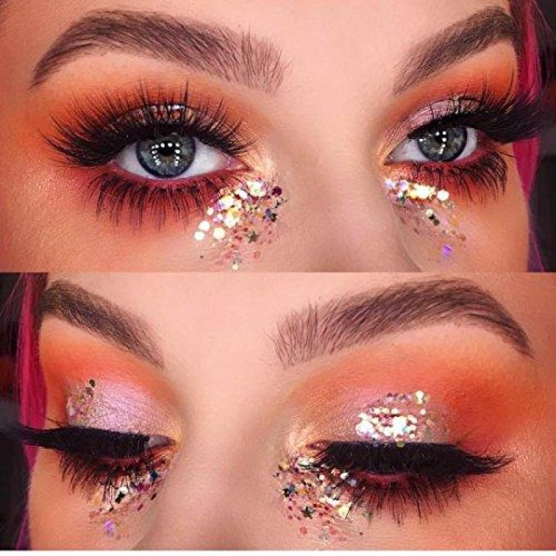 Buy DIVAWOO 8 Boxes Unicorn Chunky Glitter, Holographic Cosmetic Festival Chunky Glitter, Ultra-thin Nail Glitter Sequins Iridescent Flakes Sparkles Face Body Hair Nail Singapore